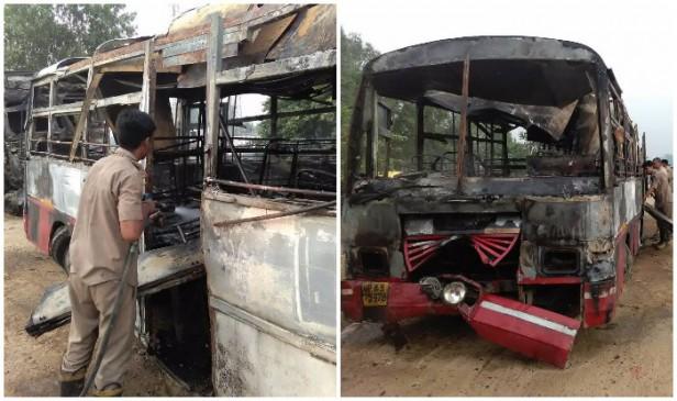 बरेली में भीषण बस हदसा, 24 जिंदा जले