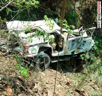 शिमला : मंदिर से लौटते समय खाई में गिरी जीप, एक ही परिवार के 5 लोगों की मौत
