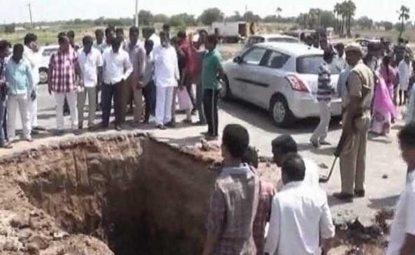 भगवान शिव की खोज में खोद दिया हैदराबाद हाईवे
