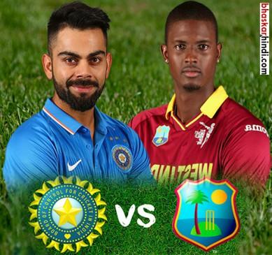 IndVsWI : बारिश के कारण मैच रुका, भारत 3 विकेट 39 ओवर 199 रन