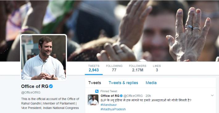 राहुल का ट्विटर वार, कहा- किसानों के खिलाफ छेड़ी जंग