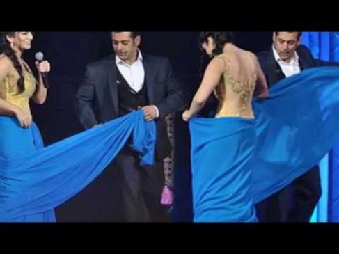 VIDEO: पूरी की ख्वाहिश, सलमान खान ने उतारी सनी की साड़ी