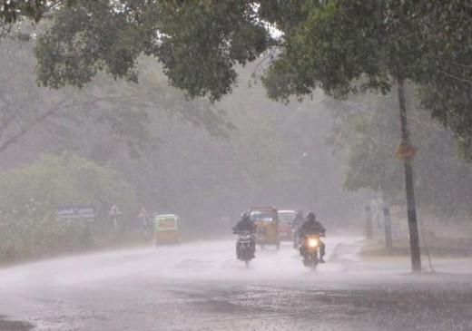 कहीं कम तो कहीं सामान्य है वर्षा का स्तर