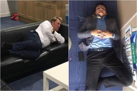 फर्श पर गांगुली सोफे पर शेन वॉर्न, सहवाग ने शेयर किया फोटो