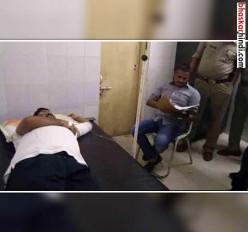 आजमगढ़: बदमाश के साथ मुठभेड़ में एसपी को लगी गोली,बदमाश गिरफ्तार