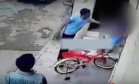 8वीं क्लास की छात्रा के साथ घर के बाहर छेड़छाड़, घटना CCTV में कैद