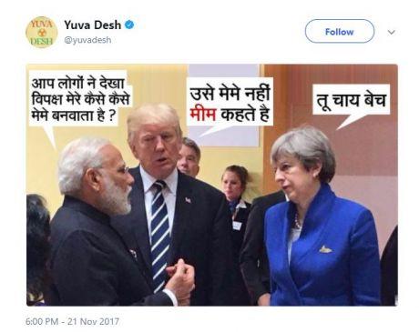 युवा कांग्रेस ने PM के चाय बेचने पर बनाया मीम, विवाद बढ़ने पर हटाया