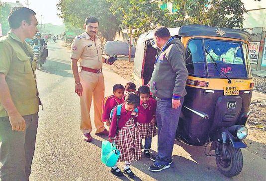 सीटों से ज्यादा भर कर ले जा रहे थे बच्चे, 665 स्कूल वाहनों पर कार्रवाई