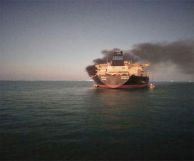 गुजरात: मर्चेंट नेवी के तेल टैंकर एमटी गणेश में लगी आग, बाल-बाल बचे 26 क्रू मेंबर