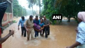 प्री - मानसून बारिश में मैंगलोर पानी-पानी, फंसे लोगों को निकालने के लिए रेस्क्यू ऑपरेशन