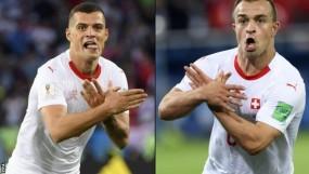 अल्बेनियन ईगल सैल्यूट पर शकिरी और ज़ाका घिरे, लग सकता है 2 मैच का बैन