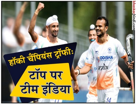 Hockey Champions Trophy : भारत की लगातार दूसरी जीत, अर्जेंटीना को 2-1 से हराया