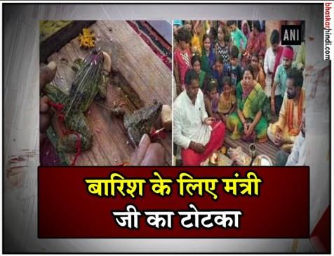 MP : बारिश के लिए मंत्री ललिता यादव ने कराई मेंढक-मेंढकी की शादी