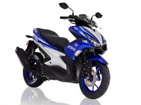 Yamaha Aerox 155 इंडिया में शोरूम में डिस्पले हुई