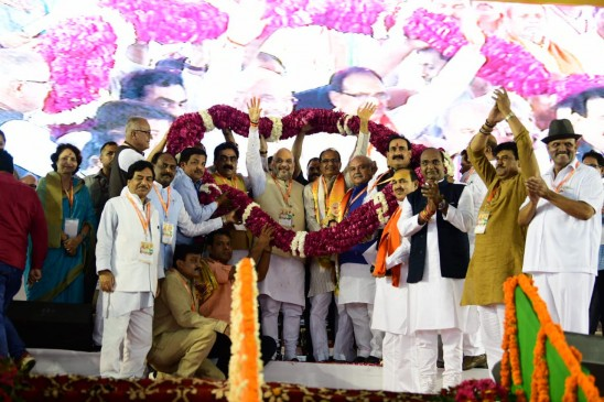 मप्र में भाजपा की जड़ें पाताल से भी गहरी: अमित शाह, शिवराज की जन आशीर्वाद यात्रा शुरू