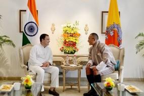 दिल्ली : भूटान के पीएम शेरिंग तोबगे से मिले राहुल गांधी