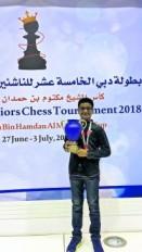 रौनक साधवानी ने दुबई जूनियर शतरंज स्पर्धा पर किया कब्जा, तैराकी में अमित ने पाया गोल्ड