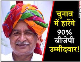 बीजेपी सांसद का दावा, आगामी चुनावों में 90% बीजेपी उम्मीदवारों की होगी हार