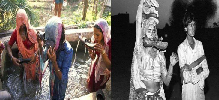भूत-प्रेत के नाम पर अंधविश्वास का खेल, पति के जूते से पानी पीती हैं महिलाएं
