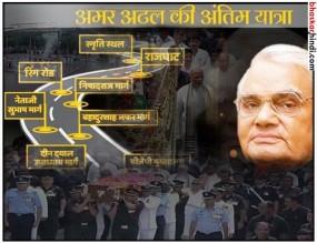 तस्वीरों में देखें भारत रत्न अटलजी की अंतिम यात्रा....