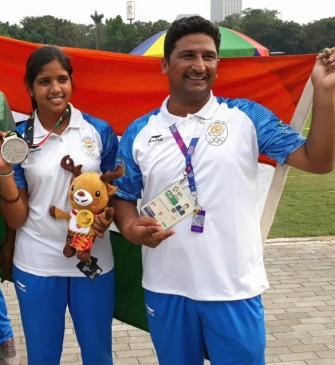 एशियाई खेलों की तीरंदाजी में जबलपुर की मुस्कान ने जीता सिल्वर मेडल