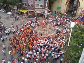 महाराष्ट्र बंद : नागपुर में पुलिस के तगड़े बंदोबस्त के बीच बंद का मिलाजुला असर