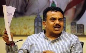 निरुपम ने लगाय बीएमसी आयुक्त पर 500 करोड़ के जमीन घोटाले का आरोप