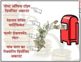 पोस्ट ऑफिस की 4 जमा योजना जो 20 साल में कर देंगी आपके पैसों को चार गुना