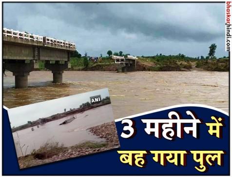 MP: 8 करोड़ में कूनो नदी पर बना पुल बहा, 3 महीने पहले केंद्रीय मंत्री ने किया था उद्घाटन