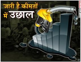 भारत बंद के बाद भी नहीं थमी पेट्रोल-डीजल की कीमतें, आज भी बढ़े दाम