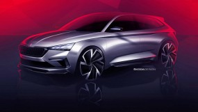 स्कोडा ने अपनी नई कार विजन आर एस का टीजर जारीकिया