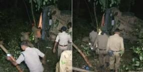 त्रिपुरा में बस हादसा, स्टेट राइफल्स के 22 जवान घायल