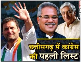 छत्तीसगढ़ चुनाव : कांग्रेस ने जारी की 12 उम्मीदवारों की पहली लिस्ट
