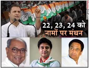 MP चुनाव : कांग्रेस स्क्रीनिंग कमेटी की बैठक 22 से, 120 सीटों पर तय होंगे सिंगल नाम