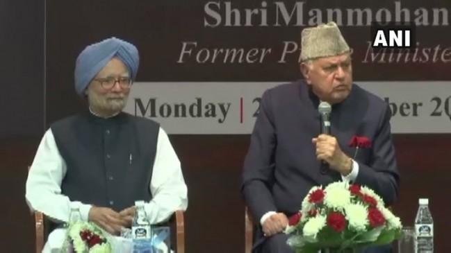 फारूक अब्दुल्ला बोले, कांग्रेस को देना चाहिए था वाजपेयी को भारत रत्न