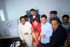 कमलनाथ ने छिंदवाड़ा में, नेता प्रतिपक्ष अजय सिंह राहुल ने सीधी में किया मतदान