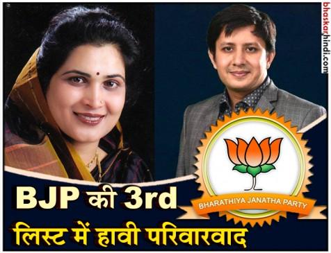 भाजपा की तीसरी सूची में 4 नेताओं के बहू-बेटों को टिकट, कृष्णा और आकाश लड़ेंगे चुनाव