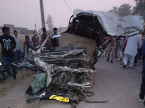 हरियाणा : तेज रफ्तार ट्रक ने कार और जीप को मारी टक्कर, 13 की मौत