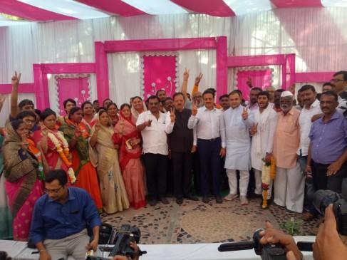 महाराष्ट्र निकाय चुनाव : धुलिया में भाजपा का परचम