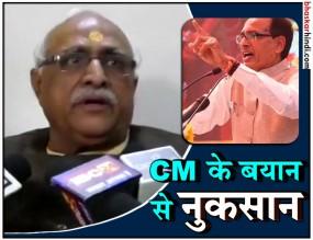 MP : नतीजों से पहले बीजेपी नेता का सीएम पर वार, कहा- माई के लाल बयान से हुआ नुकसान