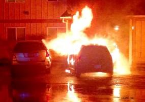 एम्बुलेंस में अचानक भड़की आग, बड़ा हादसा टला