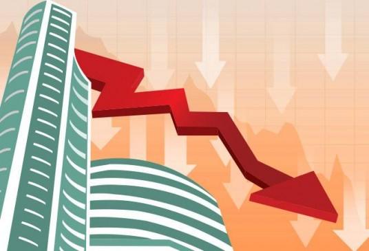 शेयर बाजार में तेज गिरावट, सेंसेक्स 690 और निफ्टी 198 अंक लुढ़का
