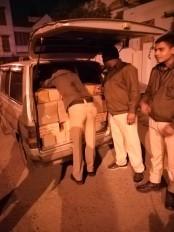 अवैध शराब के साथ तस्कर गिरफ्तार, 1.60 लाख की शराब बरामद