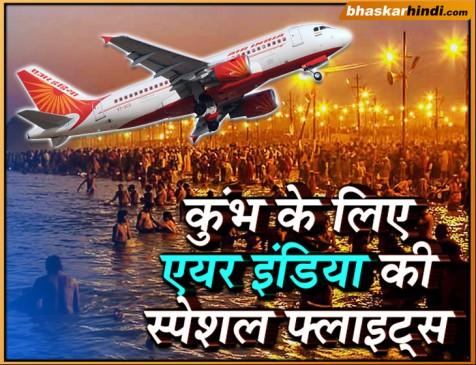 कुंभ 2019: एयर इंडिया का तोहफा, दिल्ली-अहमदाबाद-कोलकाता से प्रयागराज के लिए स्पेशल फ्लाइट