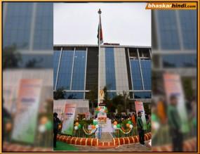दैनिक भास्कर-नगर निगम की पहल, जबलपुर में फहराया 100 फीट ऊंचा तिरंगा