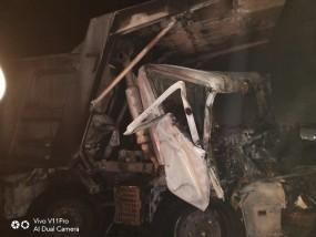 कोयला खदान में दो डंपरों में टक्कर, लगी आग, चालक की मौत