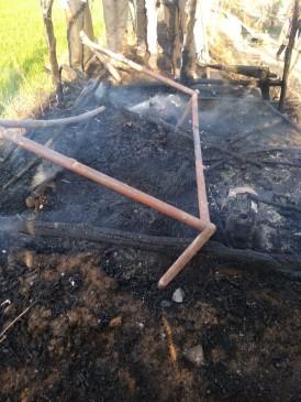 मां की आंखों के सामने जिंदा जल गई मासूम, झोपड़ी में आग लगने से हुआ हादसा