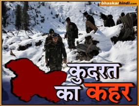 जम्मू-कश्मीर में हिमस्खलन, 6 पुलिसकर्मी लापता
