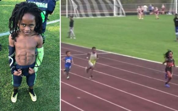 मिलिए 7 साल के इस छोटे बोल्ट से, महज 13.58 सैकेंड में पूरी की 100मी रेस