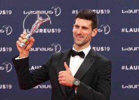जोकोविच ने जीता लॉरियस वर्ल्ड स्पोर्ट्समैन ऑफ द इयर का पुरस्कार
